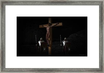 Midnight Crucifixion Framed Print
