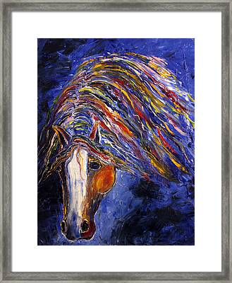 Framed Print featuring the painting Midnight Dreams by Jennifer Godshalk
