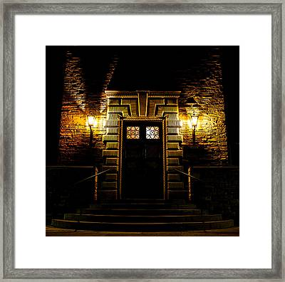 Midnight Entryway Framed Print by Rhys Arithson