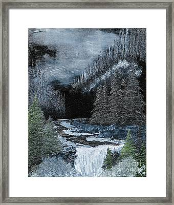 Midnight Falls Framed Print by Dave Atkins