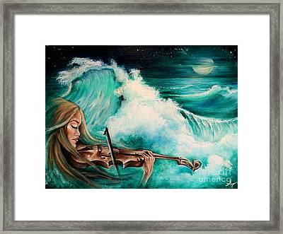 Midnight Fiddler Framed Print by Amanda Nichols Mc