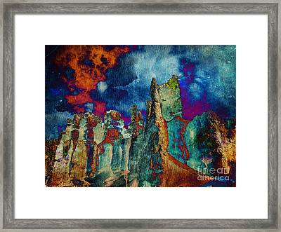 Midnight Fires Framed Print