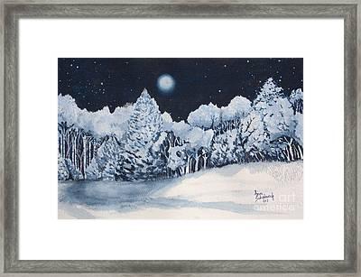 Midnight Frost Framed Print