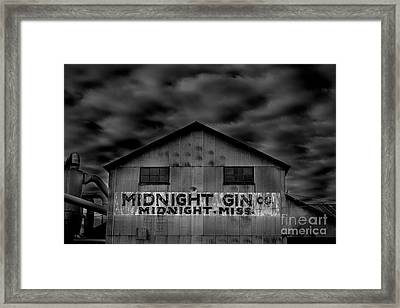 Midnight Gin Company Midnight Mississippi Framed Print by T Lowry Wilson