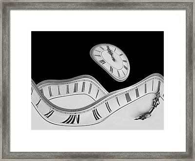 Midnight Hallucinations In Mono Framed Print by Gill Billington
