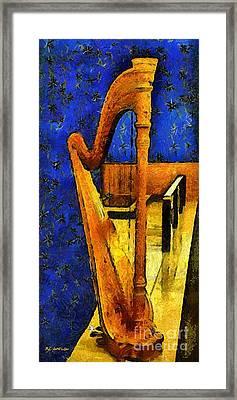 Midnight Harp Framed Print by RC DeWinter