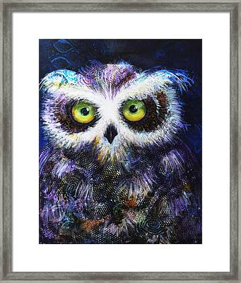 Midnight Hoot Framed Print