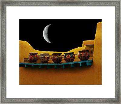 Midnight In Taos Framed Print