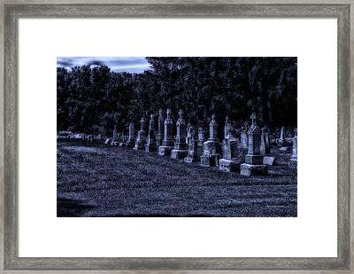 Midnight In The Garden Of Stones Framed Print by Thomas Woolworth