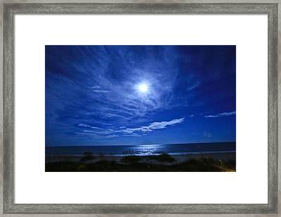 Midnight Moon Framed Print by John Roberts