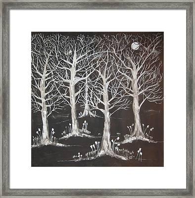 Midnight Mystery Forest Framed Print