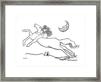 Midnight On Horseback Framed Print by Ch' Brown