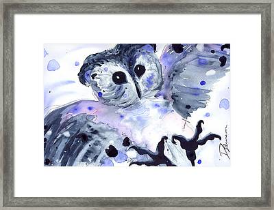 Midnight Owl Framed Print by Dawn Derman