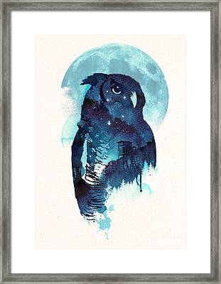 Midnight Owl Framed Print by Robert Farkas