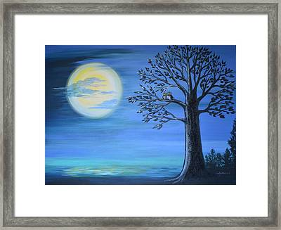 Midnight Owls Framed Print
