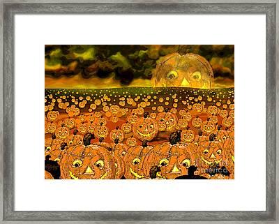 Midnight Pumpkin Patch Framed Print