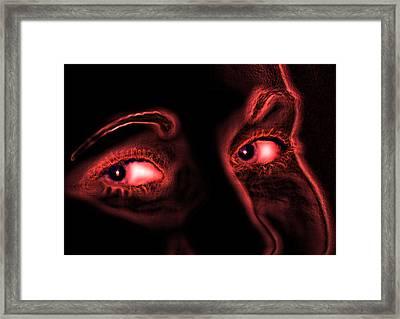 Midnight Reds Framed Print