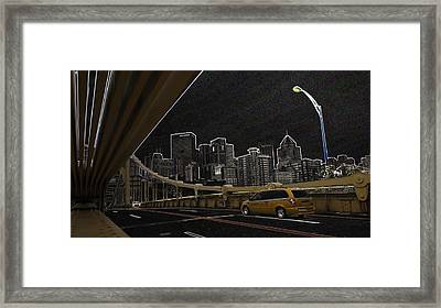Midnight Run Framed Print
