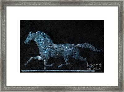 Midnight Run - Weathervane Framed Print by John Stephens