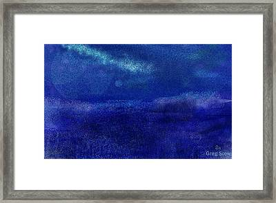 Midnight Sea Passage Framed Print by Greg Stew