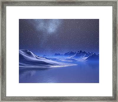Midnight Snow Framed Print