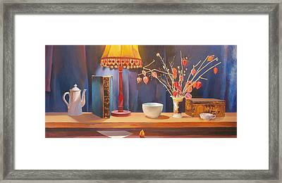 Midnight  Still Life Framed Print by Terry Scales