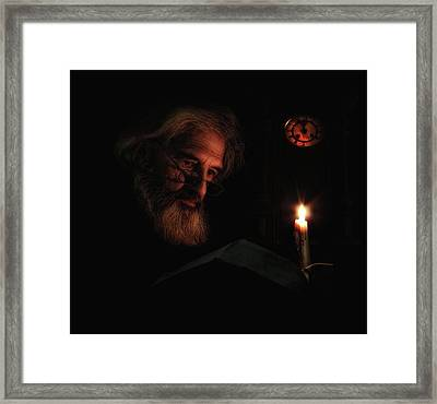 Midnight Story Framed Print by Alfredo Ya?ez