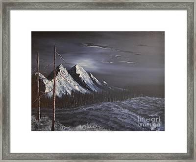 Framed Print featuring the painting Midnight by Stuart Engel