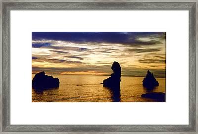 Framed Print featuring the photograph Midnight Sun by Debra Kaye McKrill