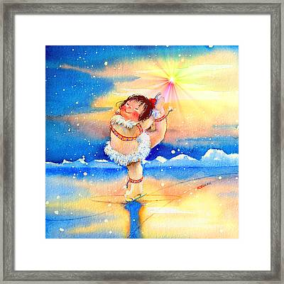 Midnight Sun Figure Skater Framed Print
