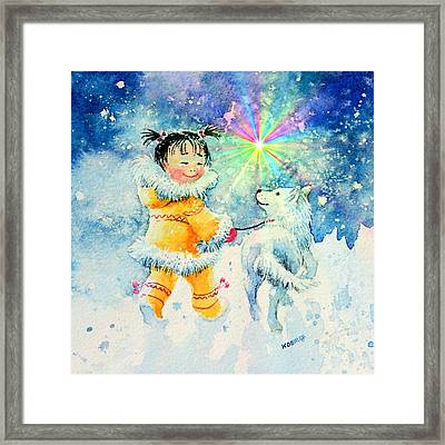 Midnight Sun Friends Framed Print by Hanne Lore Koehler