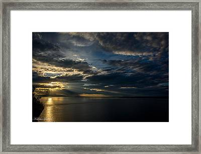 Midnight Sun Over Cook Inlet Framed Print