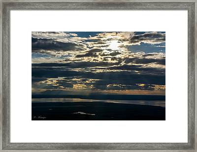 Midnight Sun Over Mount Susitna Framed Print