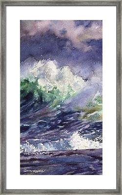 Midnight Surf Framed Print by Anne Gifford