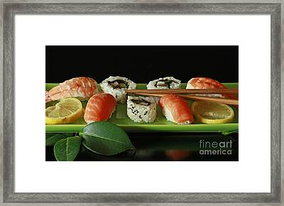 Midnight Sushi Indulgence Framed Print by Inspired Nature Photography Fine Art Photography