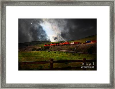Midnight Train - 5d21043 Framed Print by Wingsdomain Art and Photography