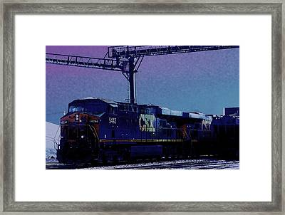 Csx  Midnight Train   By Earl's Photography Framed Print by Earl  Eells a