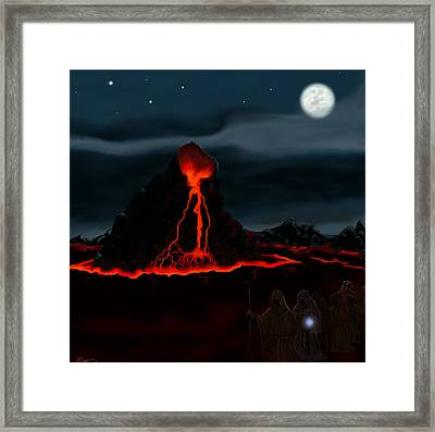 Midnight Volcano Framed Print by Brad Simpson