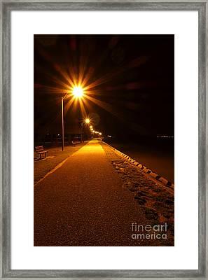 Midnight Walk Framed Print by Olivier Le Queinec
