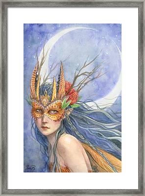 Midnight Warrior Framed Print by Sara Burrier