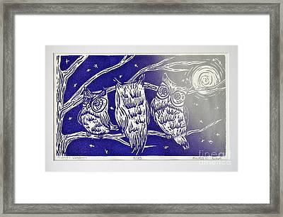 Midnight Watchmen Framed Print by Kimberly Wix