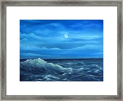 Midnight Wave Framed Print