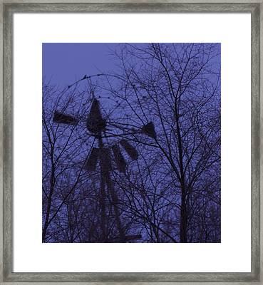 Midnight Windmill Framed Print by Todd Sherlock