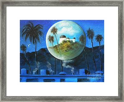 Framed Print featuring the painting Midnights Dream In Los Feliz by S G