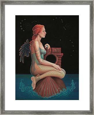 Midnight Seer Framed Print by Susan Helen Strok