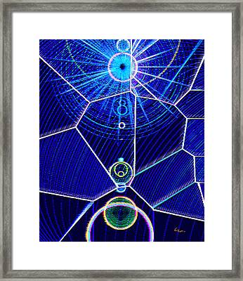 Framed Print featuring the mixed media Midori Sunrise by Carl Hunter
