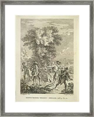 Midsummer Nights Dream Framed Print by British Library
