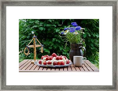 Midsummer Table Framed Print by Kennerth and Birgitta Kullman
