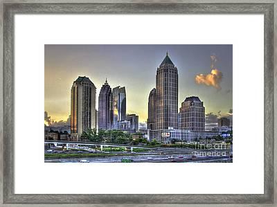 Midtown Atlanta Sunrise Framed Print