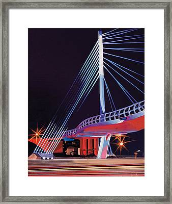 Midtown Greenway Sabo Bridge Framed Print